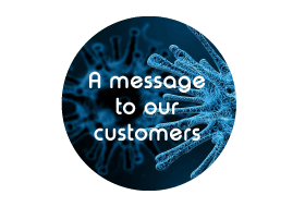 A COVID-19/ Coronavirus update for all our customers and members of the scientific community